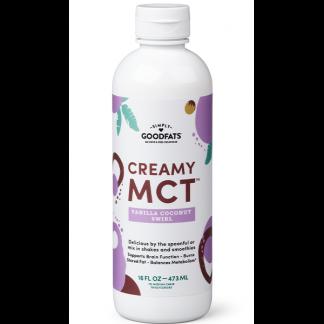 Emulsified Creamy MCT Oil, Vanilla Coconut Swirl Flavor