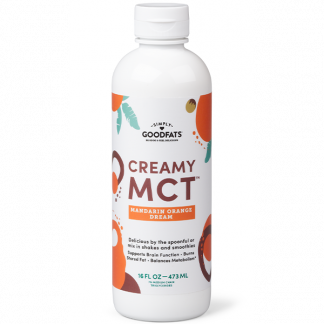 Emulsified Creamy MCT Oil, Mandarin Orange Dream Flavor